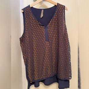 Addition-elle Sleeveless Shirt Blouse Tank Top 2x